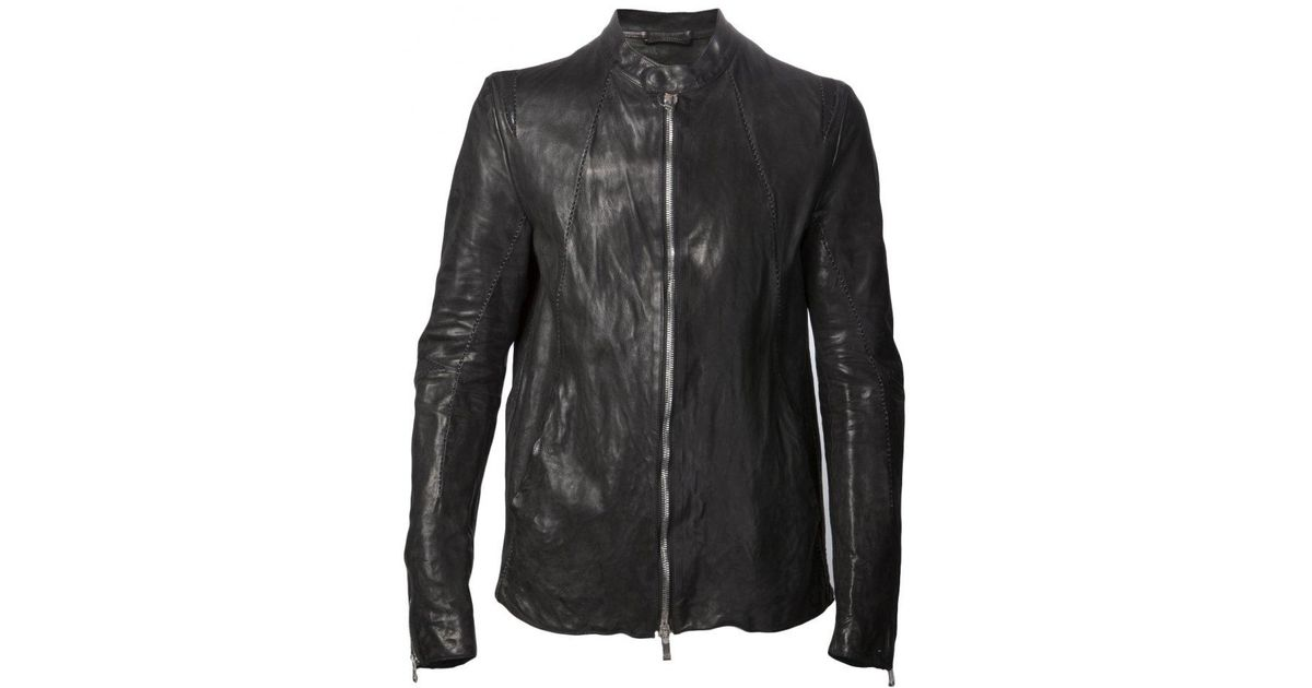 b5b8bcaee93 Lyst - Incarnation Zip Up Leather Jacket for Men