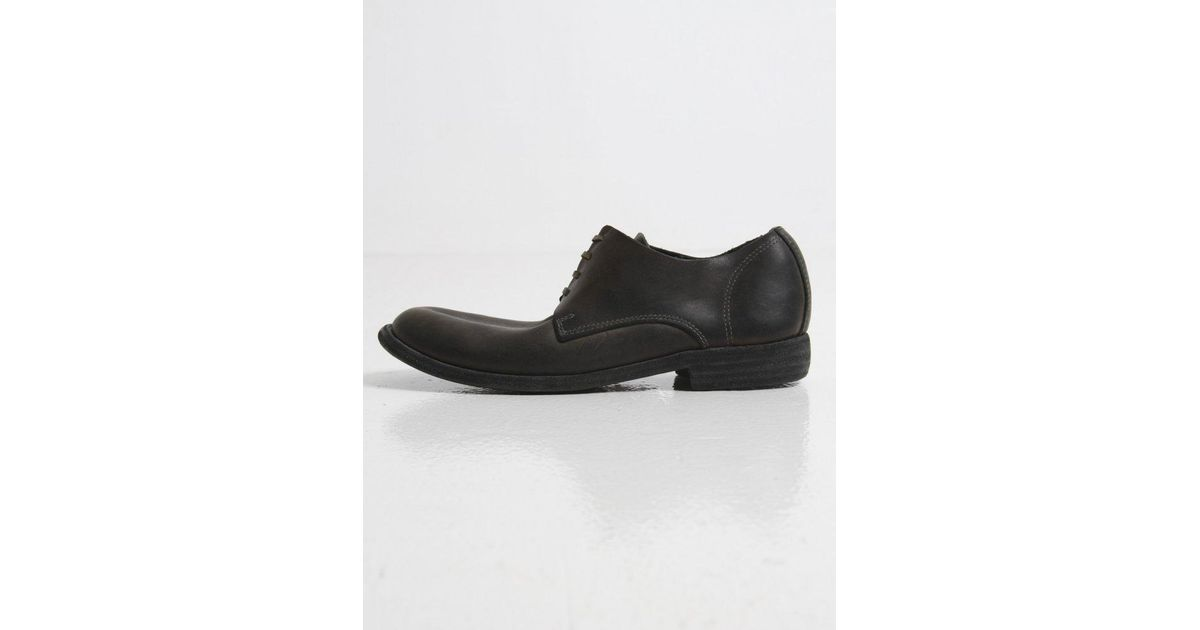 GUIDI WASHED LEATHER LACE-UP SHOES Wz5XXtjRy