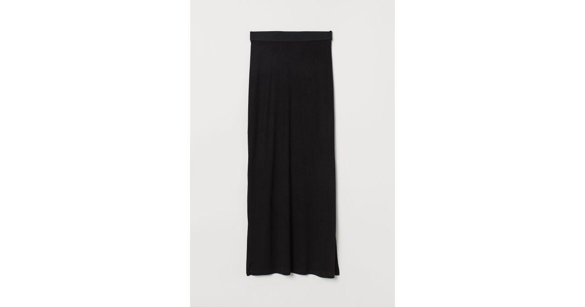 Black amp;m Jupe Longue Coloris Jersey En H HEYDW9e2I