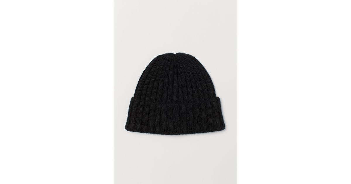 9d244bffe H&M Black Knit Hat