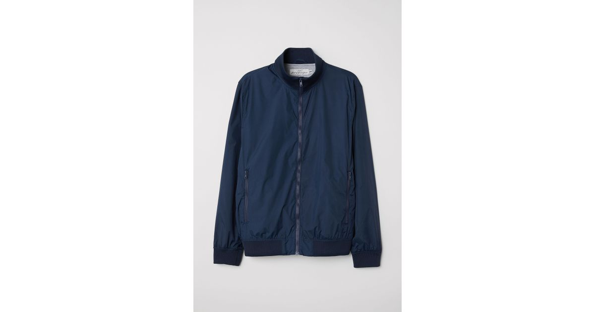 841d1fda0 H&M Blue Jacket With Stand-up Collar for men