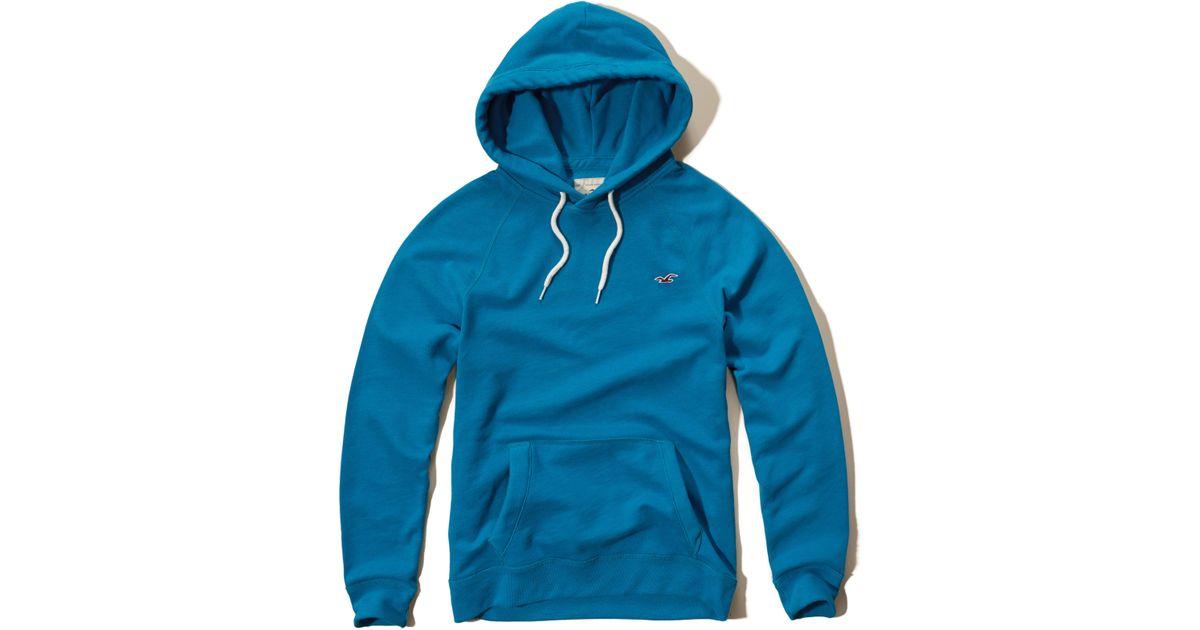 Hollister Sweaters Hollister Hoodies Hollister Shirts Hollister Jacket Hollister Pants Hollister Jeans: Hollister Iconic Fleece Hoodie In Blue For Men