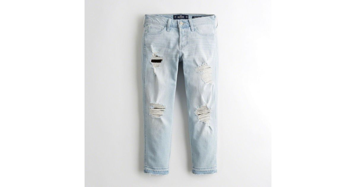 b6e660fa20 Lyst - Hollister Girls Vintage Stretch Low-rise Boyfriend Jeans From  Hollister in Blue - Save 74.57627118644068%