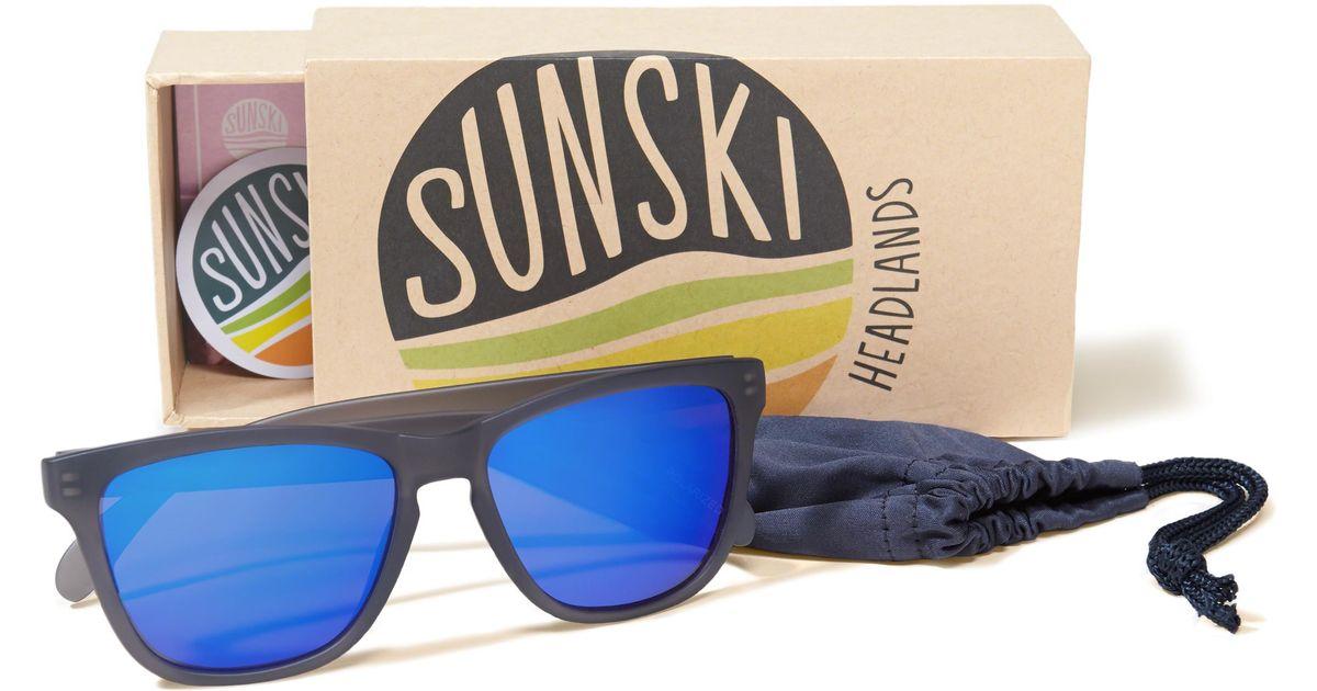 70df564d20f Hollister Sunski Headland Sunglasses in Blue for Men - Lyst