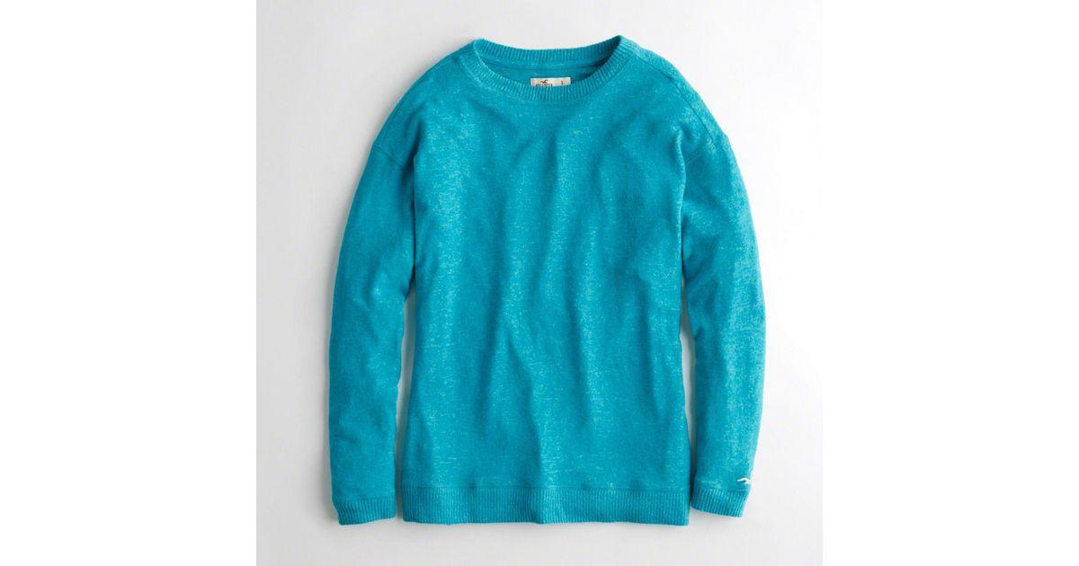 393816cdc Lyst - Hollister Girls Oversized Crewneck Sweatshirt From Hollister in Blue