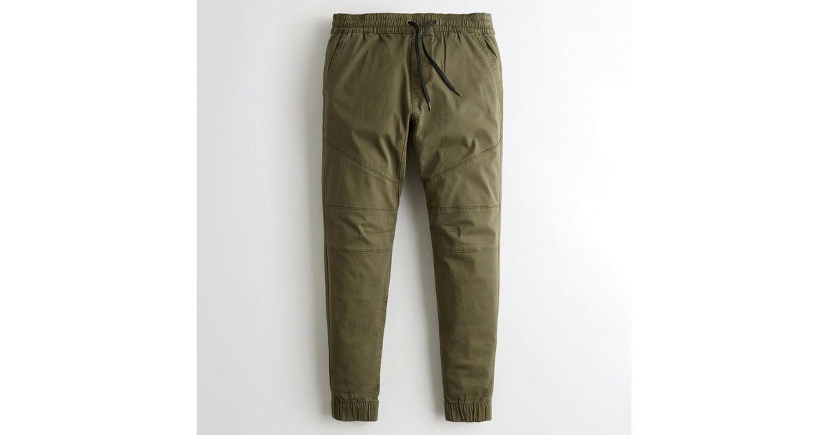 abc6437dbb978 Lyst - Hollister Guys Advanced Stretch Skinny Twill Jogger Pants From  Hollister in Green for Men