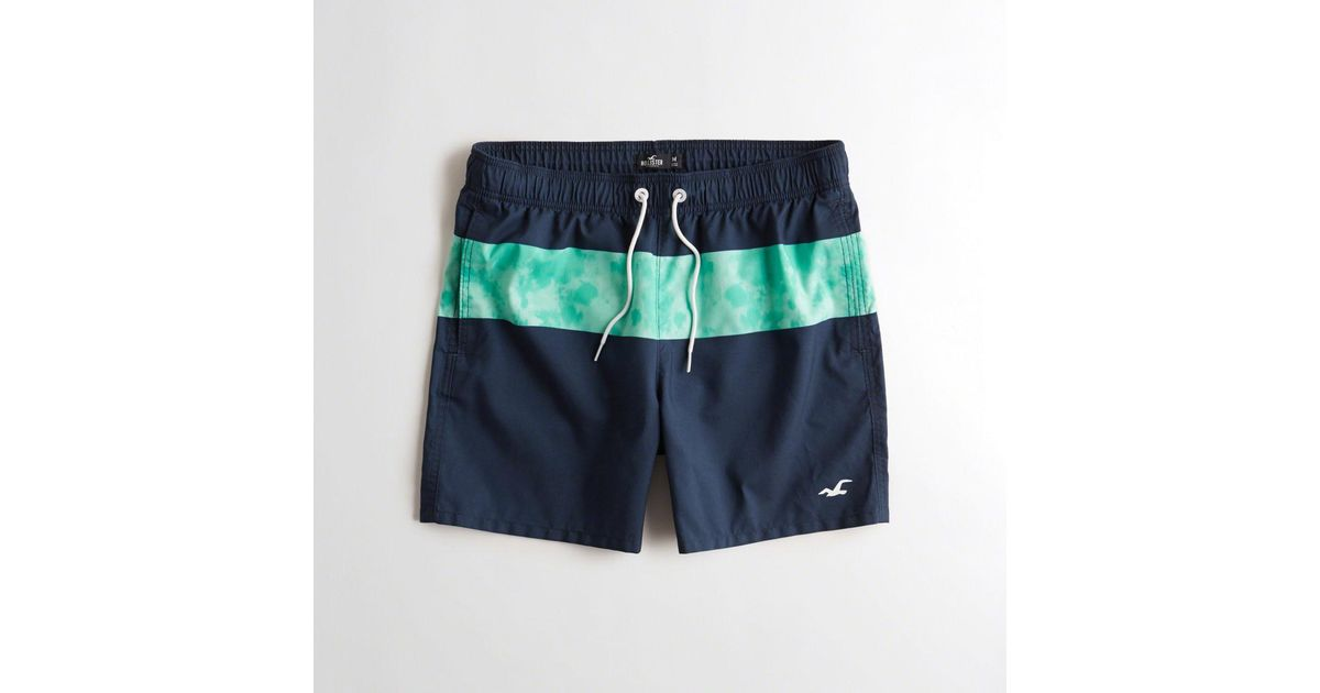 49d5a6d6c0 Lyst - Hollister Guys Guard Fit Swim Trunks From Hollister in Blue for Men