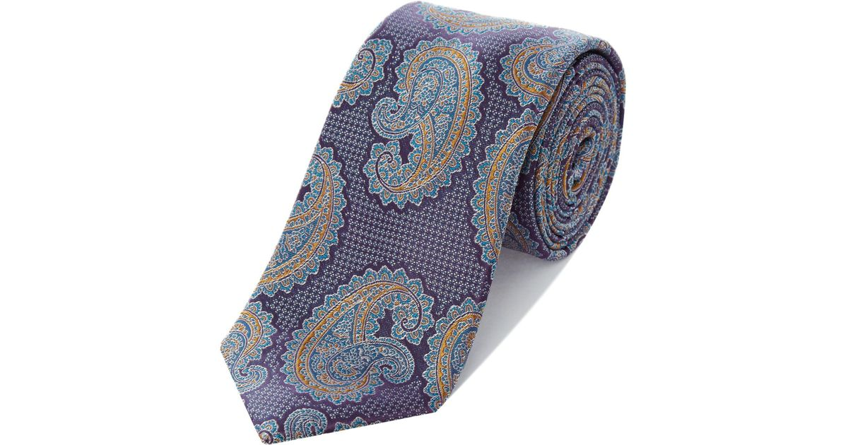 9a5dbf93df3de9 Ted Baker Penne Paisley Tie in Purple for Men - Lyst