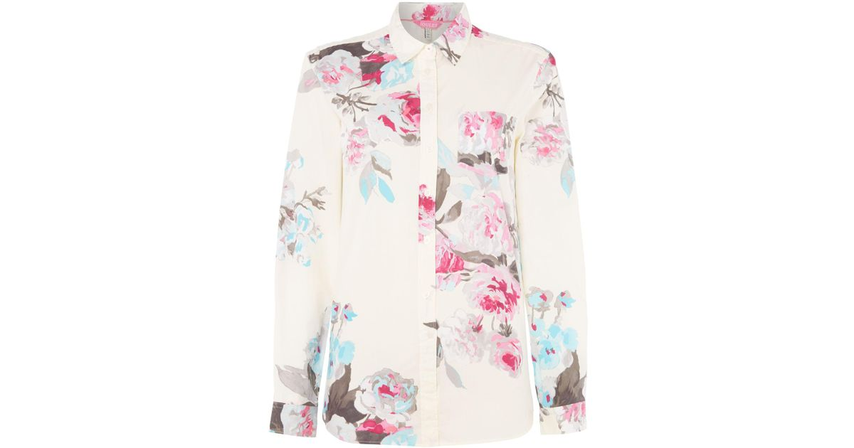 Joules classic printed shirt in multicolor lyst for Quality classic house of fraser