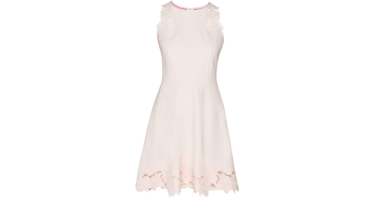 0d2d1eca07 Lyst - Ted baker Emmona Embroidered Skater Dress