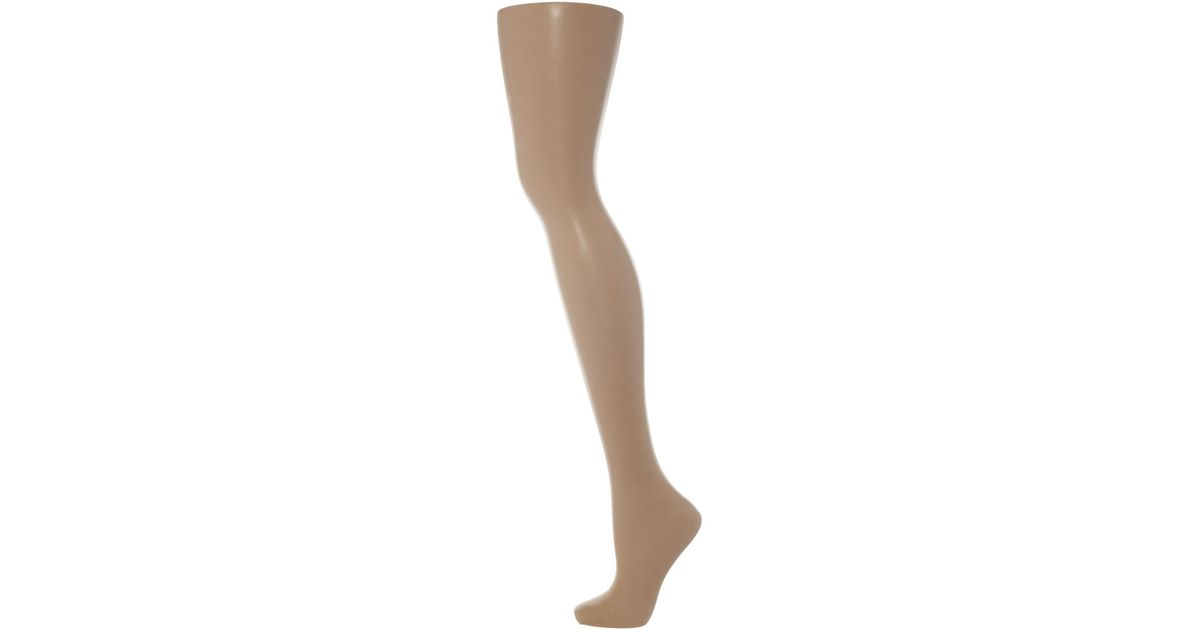 514f409daa9 Pretty Polly 8 Denier Sandal Toe Tights in Natural - Lyst