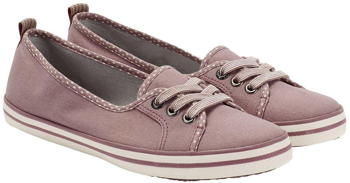 White Stuff Paige Plimsoll in Pink - Lyst