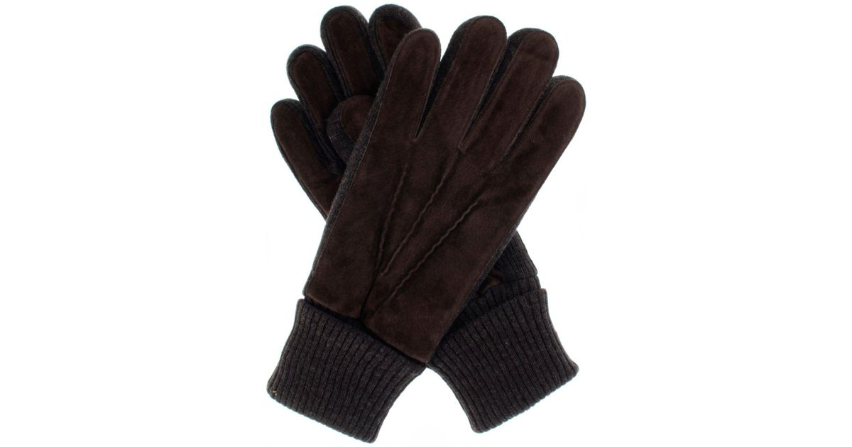 164986f890d71 Dents Men`s Casual Suede Gloves Knitted Cuff in Brown for Men - Lyst