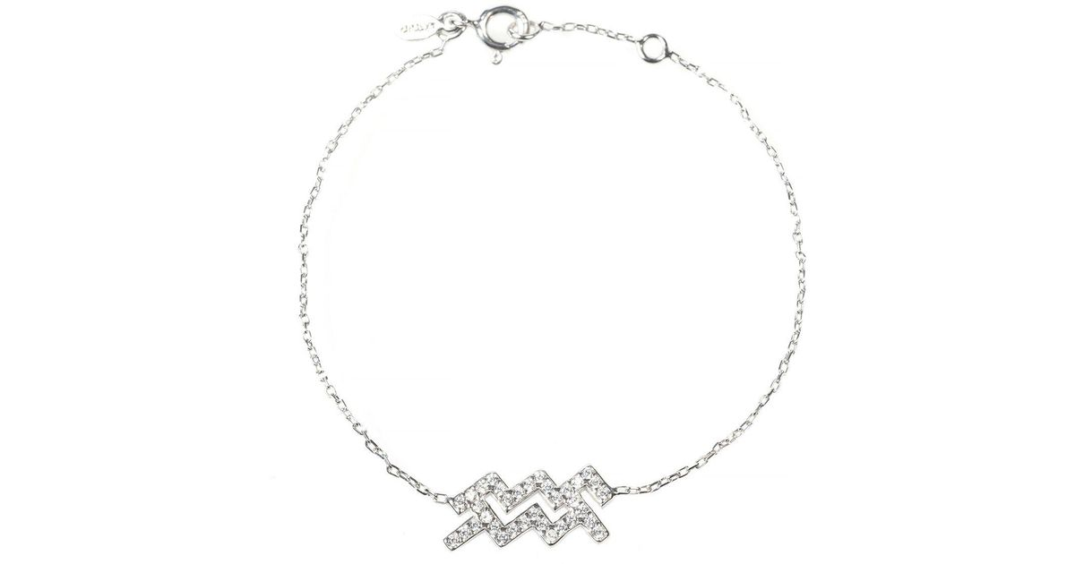 Latelita London Aquarius Zodiac Bracelet Silver xAy84R5q