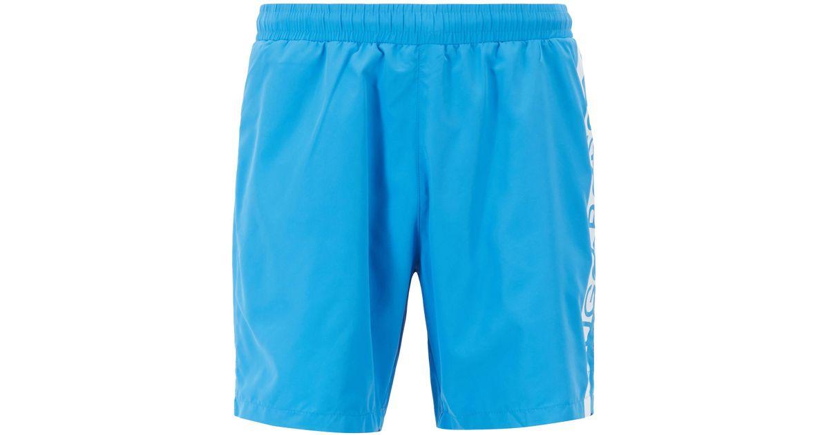 40d43333d Boss Medium-length Swim Shorts With Heat-sealed Logo Print in Blue for Men  - Lyst
