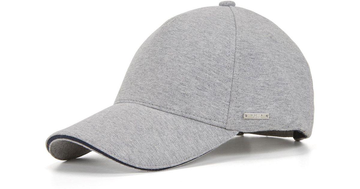 d712d09f BOSS Cotton Blend Twill Cap | Serios in Gray for Men - Lyst