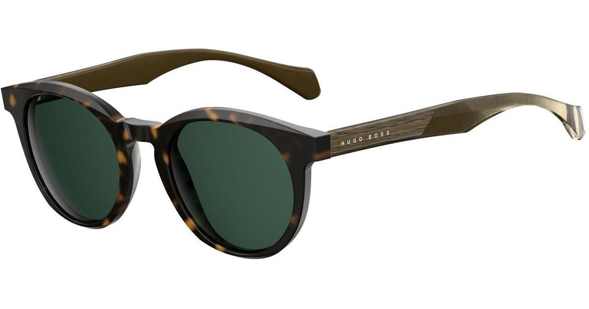 801cd431f8 Lyst - BOSS Black Acetate Round Sunglasses