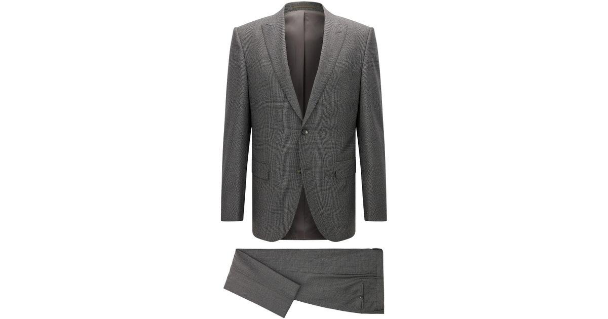 181a9f8d3 BOSS Glen Check Italian Virgin Wool Suit, Slim Fit | T-jorman/lary in Gray  for Men - Lyst