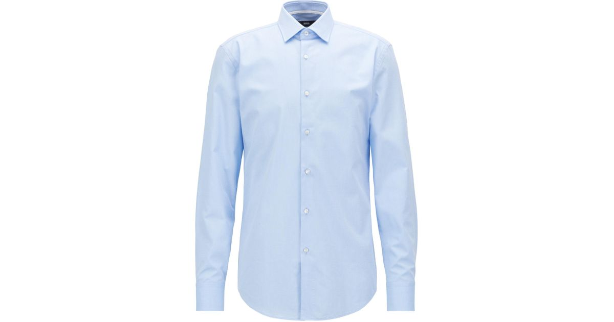 Popular Cheap Price Discounts Sale Online Slim-fit shirt in striped micro-structured cotton BOSS Cheap Visit Very Cheap Sale Online 4BkdX8sQh