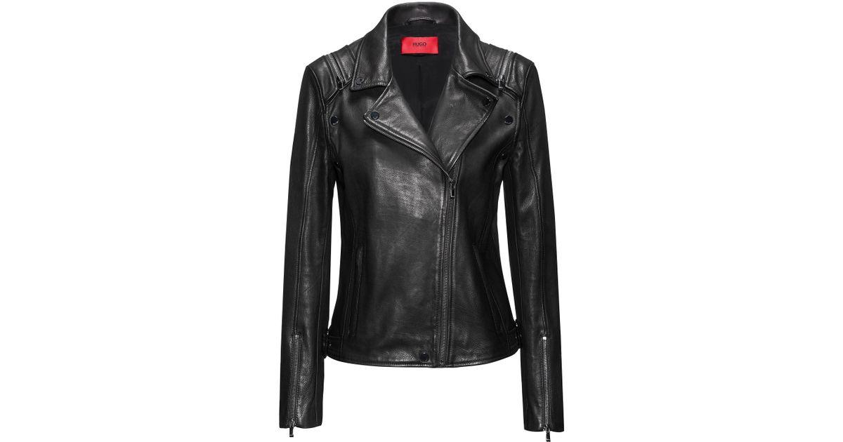 LEVANA Black Ladies Women/'s Short Bomber Winter Real Soft Sheep Leather Jacket