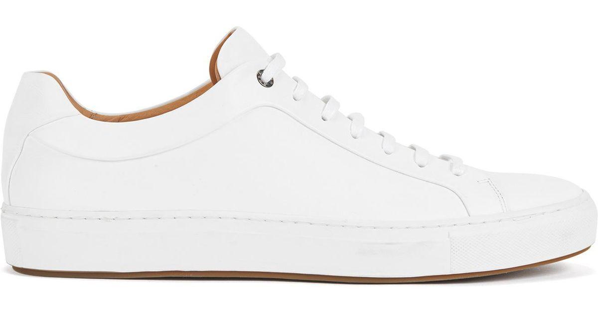 3aeafe06f17 Lyst - BOSS Leather Sneaker