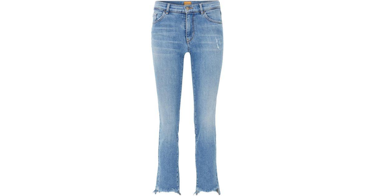 Slim-fit cropped jeans in stretch denim BOSS iDOjJD