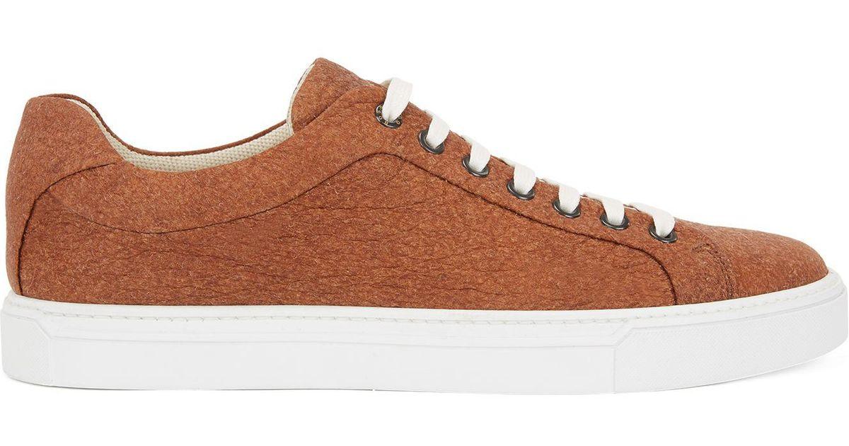 8ba4137c0ed Lyst - BOSS Limited-edition 100% Vegan Sneakers In Piñatex® in Brown for Men