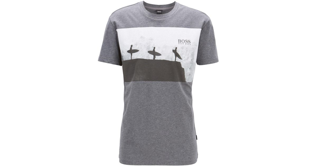 25d3d52b6 BOSS Crew Neck T-shirt Rn Grey in Gray for Men - Save 11% - Lyst