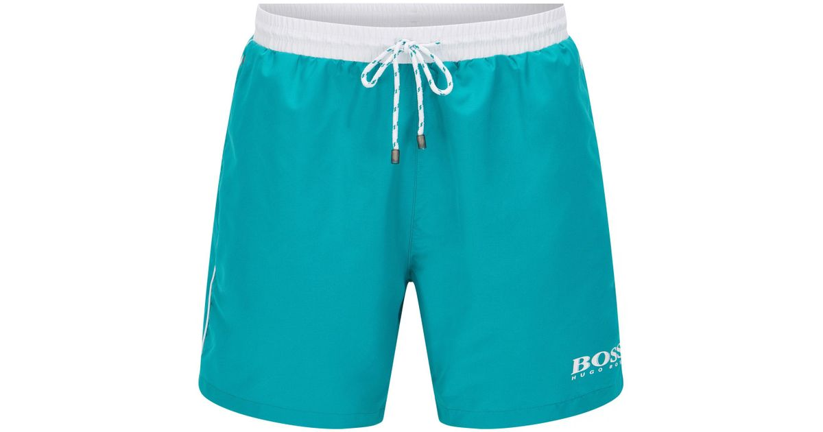 a4ee54150 Lyst - BOSS Swim Shorts In Technical Fabric in Blue for Men