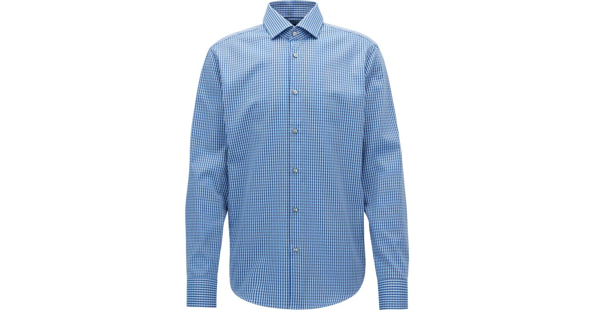 Regular-fit checked Oxford cotton shirt with Fresh Active finish BOSS 100% Authentic Cheap Price Clearance Cost kqJMEtUB9y