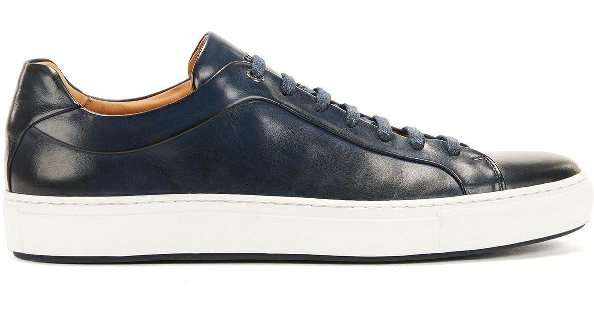 b418b897b66 BOSS Leather Sneaker   Mirage Tenn in Blue for Men - Lyst