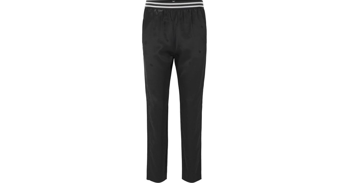 Regular-fit satin trousers with jacquard pattern BOSS s7ZC9KTW4