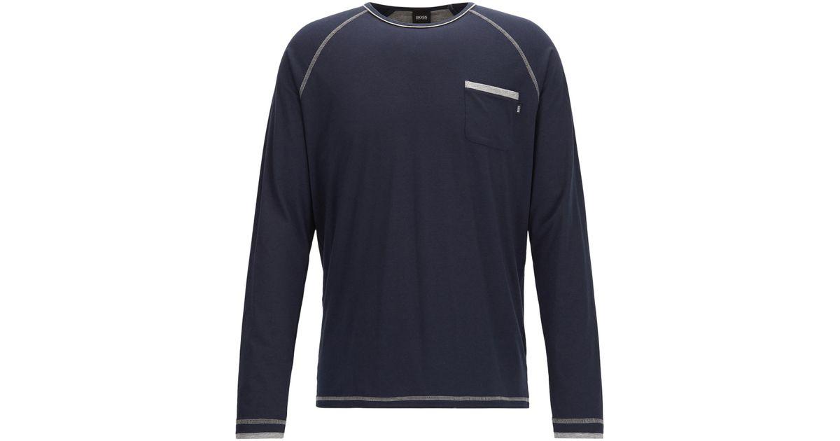 BOSS Mens Balance Ls-Shirt Rn Pyjama Top