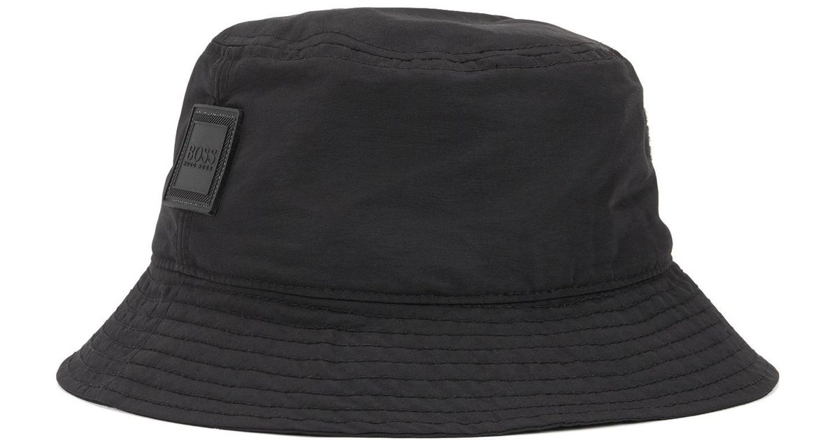 61c2fb950 BOSS Black Bucket-style Fisherman's Hat In Water-repellent Technical Fabric  for men