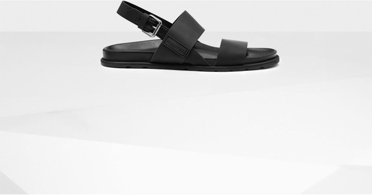 c7a7e947a3e0 Lyst - HUNTER Men s Original Double Strap Leather Sandals in Black for Men