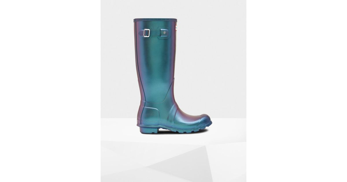 9216a17e124 Lyst - HUNTER Original Nebula Tall Wellington Boots in Brown
