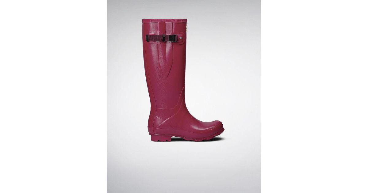68483428078 Hunter Red Women's Norris Field Side Adjustable Boots