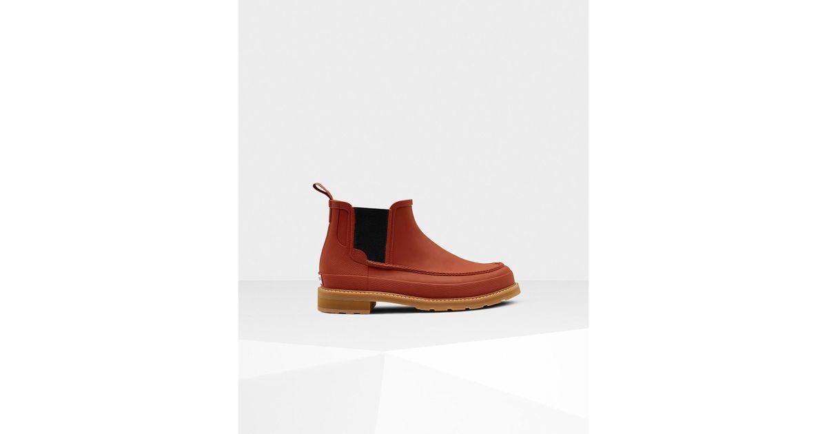 f52df248b59 Hunter Multicolor Men's Original Moc Toe Chelsea Boots for men