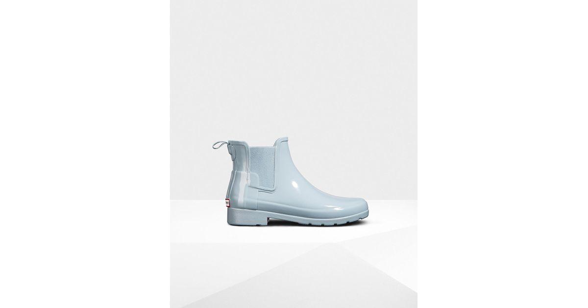 2b79eb259ea Hunter Blue Women's Original Refined Chelsea Gloss Boots