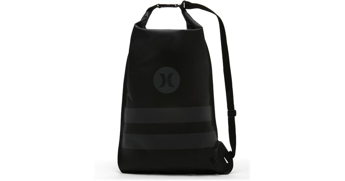 Lyst - Hurley Wet And Dry Roll Up Cinch Sack (black) - Clearance Sale in  Black 39cac051b3a25