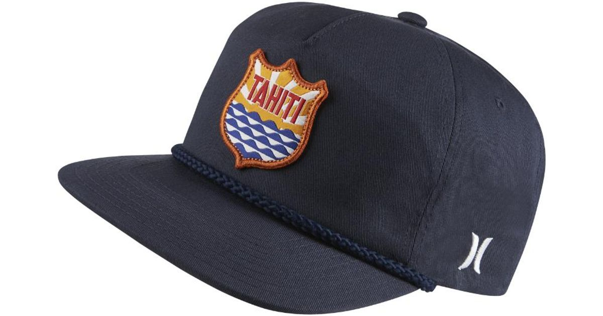 940a7864bc7 france hurley milner stretch cap efffa 93f06  canada lyst hurley tahiti  adjustable hat blue in blue for men 1a600 356ba