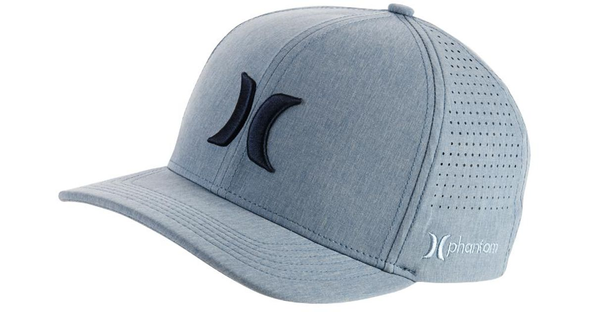 Lyst - Hurley Phantom Vapor 3.0 Fitted Hat in Blue for Men bf0ea75cd9a2