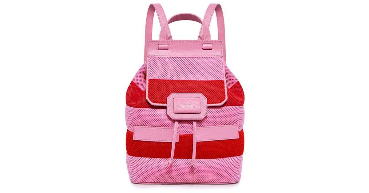 Moschino Honeycomb Striped Backpack Stripe Vv62mbhYWW