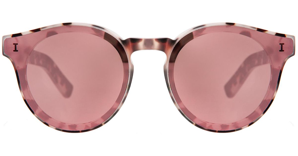 d33eed8bbc97 Illesteva Two Point One Sunglasses in Brown - Lyst