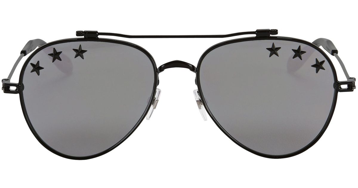 a71bfe40f673 Lyst - Givenchy Mirror Star Aviator Sunglasses in Metallic