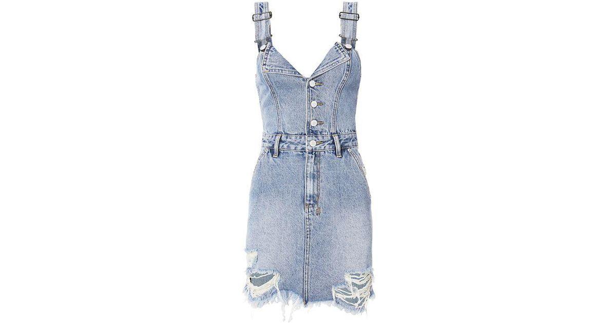 16bfc762198 Lyst - Ksubi Palms Shredded Dress in Blue