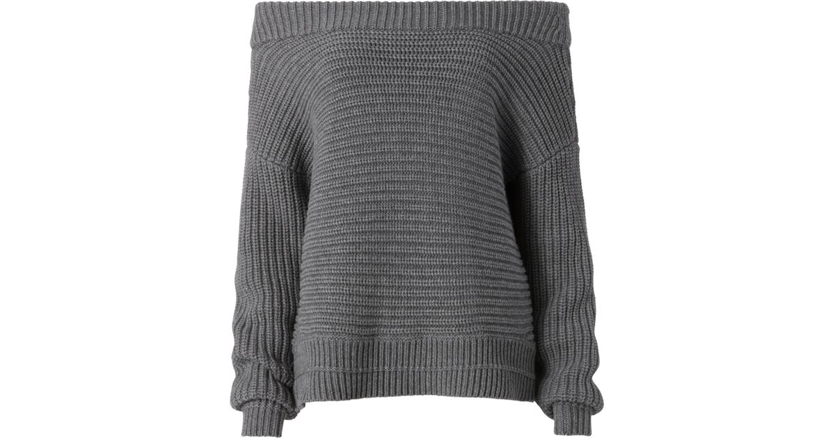 Exclusive for intermix Irving Off Shoulder Sweater in Gray | Lyst