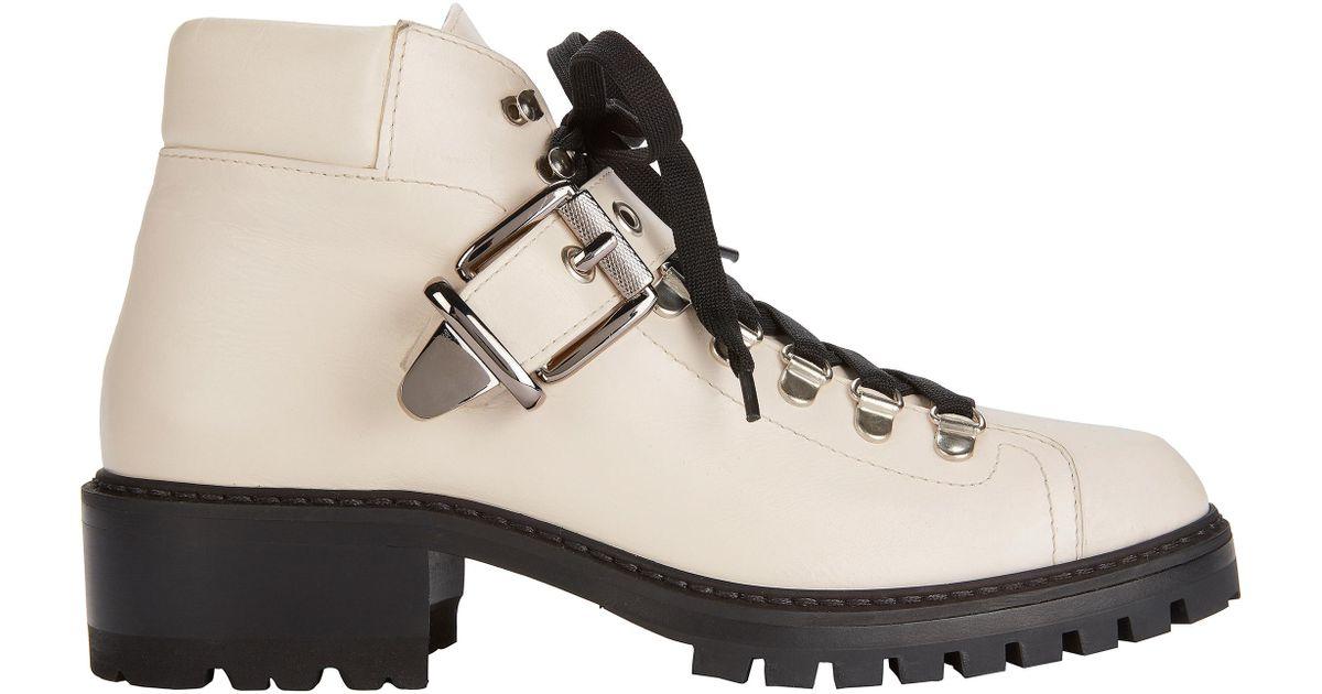 Barbara Bui Leather Lug Sole White