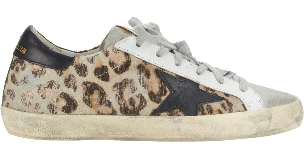 dcf1d98af3866 Golden Goose Deluxe Brand White Superstar Snow Leopard Low-top Sneakers