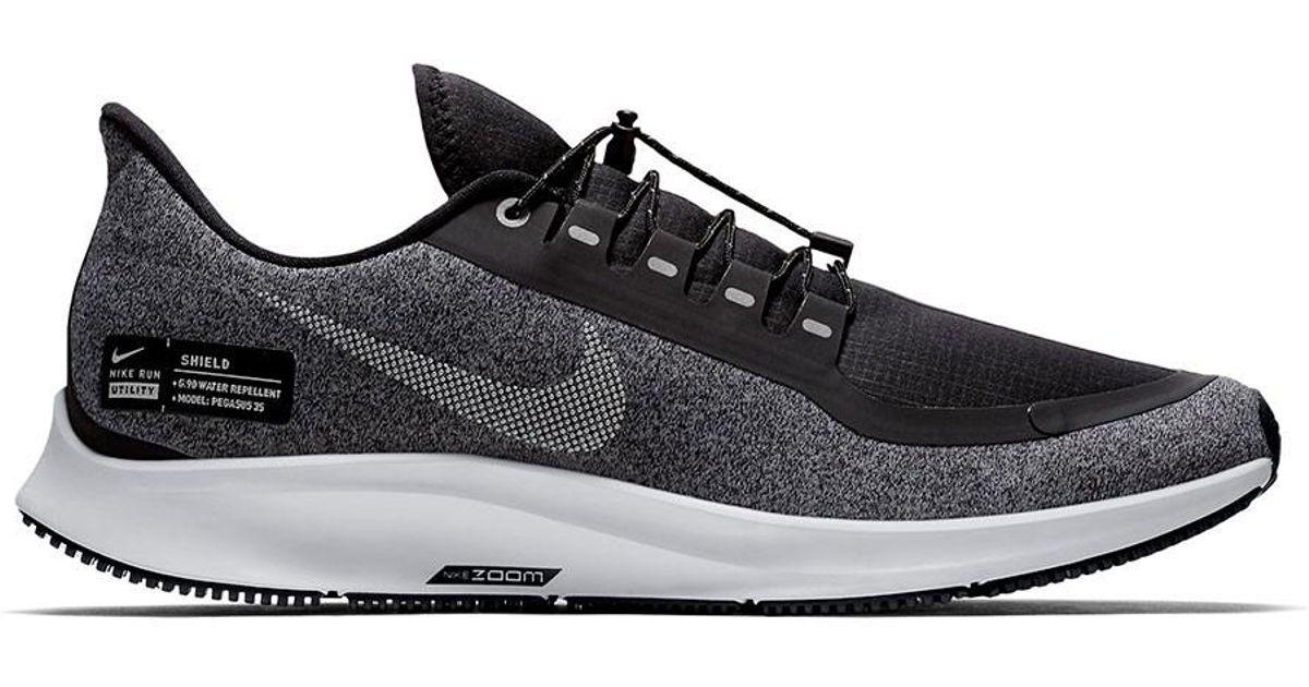 promo code 2a73c 1eb15 Nike Black Air Zoom Pegasus 35 Shield Water-repellent Running Shoe for men
